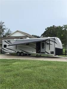 2015 forest river 36 fkbs work and play toy hauler
